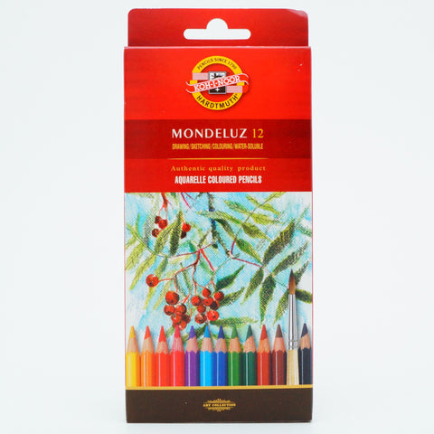 Koh-I-Noor Mondeluz Aquarell Coloured Pencil Set of 12 - Hands Craft Store