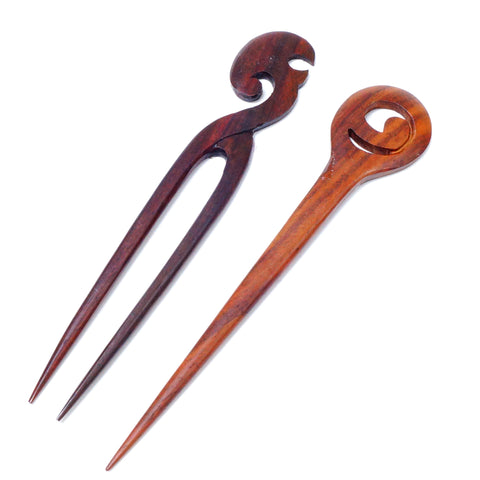 Wooden Hair/Shawl Pins - Hands Craft Store