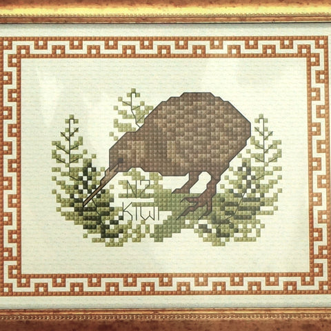 New Zealand Birds - Kiwi with Border - Hands Craft Store