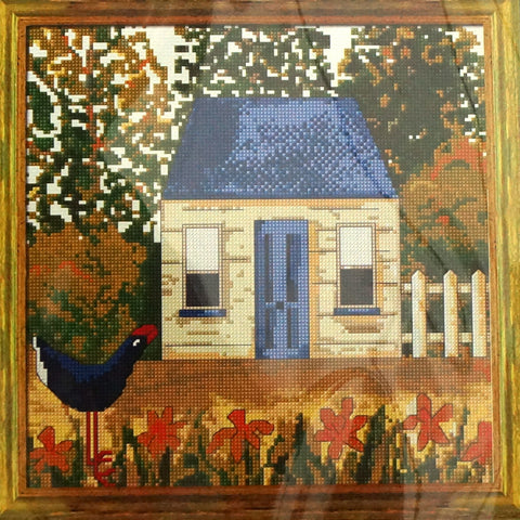 Blue Cottage Cross Stitch Kit - Hands Craft Store