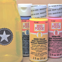 Mod Podge Sheer Coloured Sealers - Hands Craft Store