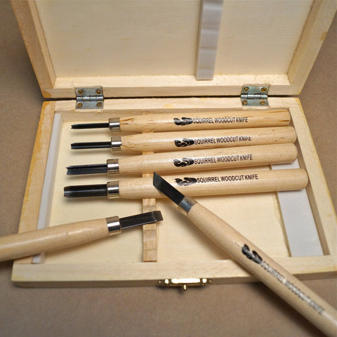 Woodcut Knife Set of 6 - Hands Craft Store