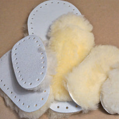 (Temporally out of Stock) Sheepskin Slipper Soles + Free Pattern Size 17cm Child - Hands Craft Store