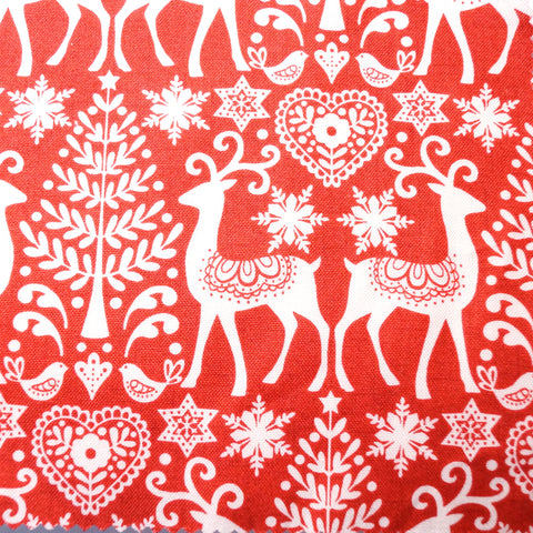 Christmas Fabric - Christmas Reindeer - Hands Craft Store