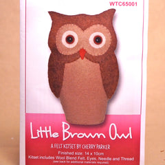 Felt Doll Patterns - Little Brown Owl - Hands Craft Store