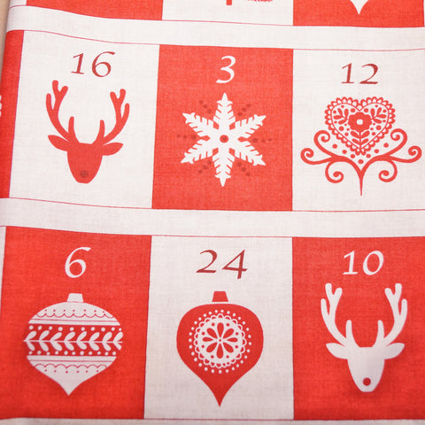 Christmas Fabric Panel - Scandi Advent Calendar - Hands Craft Store