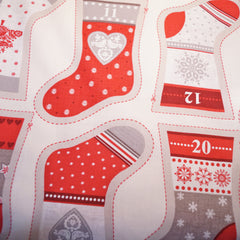 Christmas Fabric Panel - Stocking Bunting Advent Calendar - Hands Craft Store