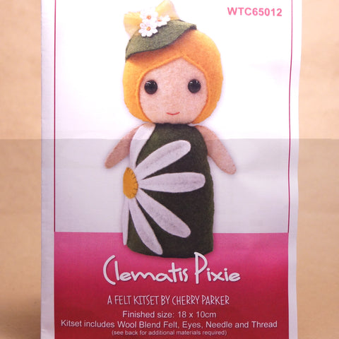 Felt Doll Patterns - Clematis Pixie - Hands Craft Store