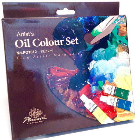 Phoenix Oil Colour 18 Set - Hands Craft Store