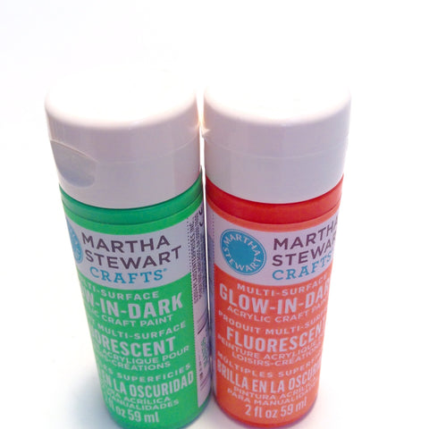 Martha Stewart Glow-In-Dark Paints - Hands Craft Store