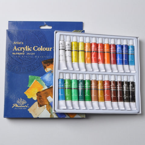 Phoenix Acrylic Set of 18 Paints