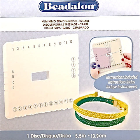 Beadalon Kumihimo Braiding Disk - Square - Hands Craft Store