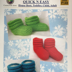 Quick 'n' Easy House Boot (Booties) - Hands Craft Store