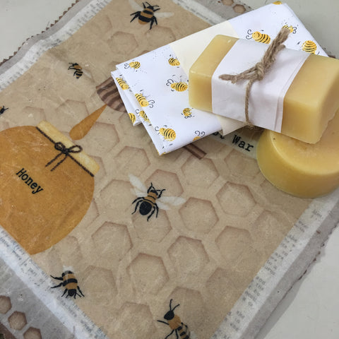 Beeswax. Food wrap and picnic bag. - Hands Craft Store