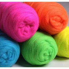 Ashford Corriedale Sliver Fluro Colours - Hands Craft Store