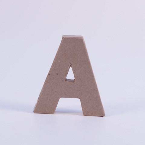 Paper Mache Letter & Numbers - Hands Craft Store