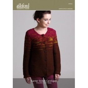 Tekapo Yarn Pattern - Garter Stitch Cardy - Hands Craft Store