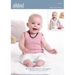 Ribbed Twist Singlet - Pattern Mackenzie Yarn - Hands Craft Store