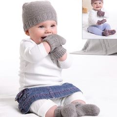 Hat, Botties and Mittens - Pattern Mackenzie Yarn