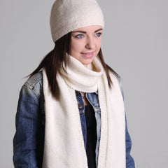 Moss Stitch Beanie and Scarf