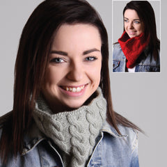 Lace and Cable Cowls - Hands Craft Store