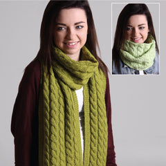 Cable Cowl and Scarf - Hands Craft Store