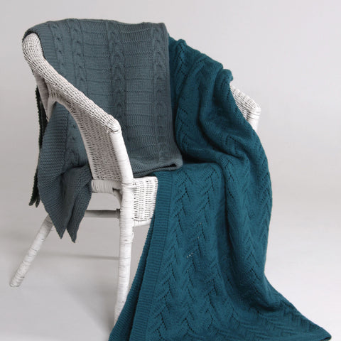 Lace and Cable Blankets