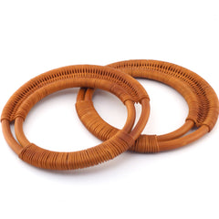 Rattan Bag Handles - Brown - Hands Craft Store