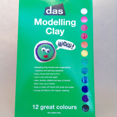 DAS Modelling Clay Rainbow Pack - Hands Craft Store