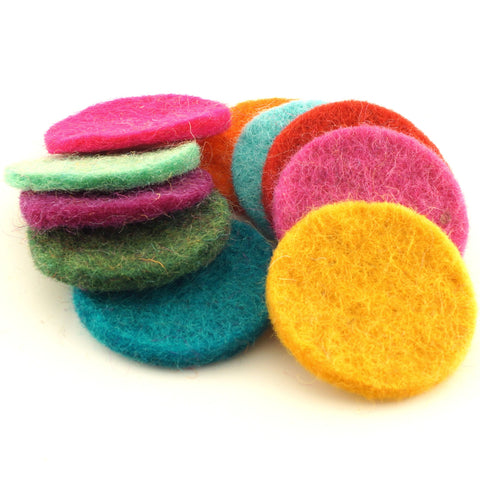 Needle Felted Circle Shapes - Hands Craft Store
