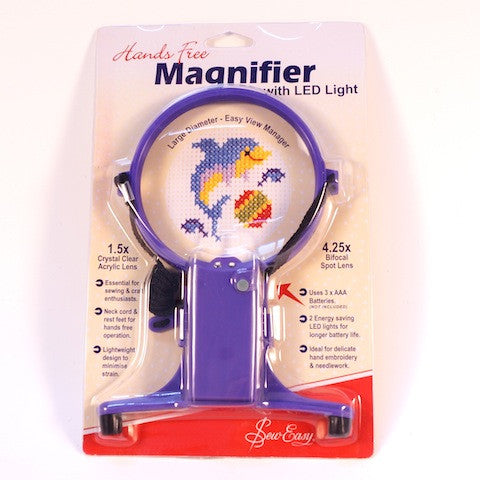 Hands-Free Magnifier with LED Light - Hands Craft Store