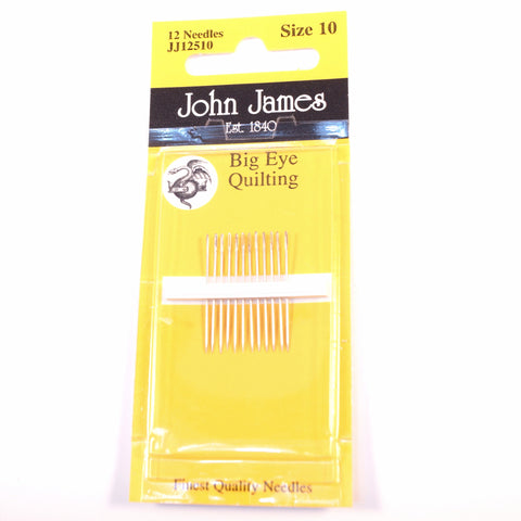 John James Quilting Needles Size 10 Big Eye - Hands Craft Store