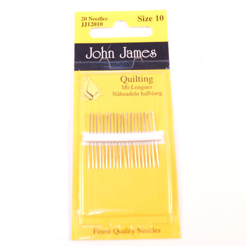 John James Quilting Needles Size 10 - Hands Craft Store