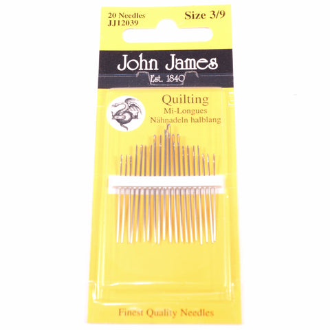 John James Quilting Needles Size 3/9 - Hands Craft Store