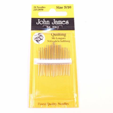 John James Quilting Needles Size 5/10 - Hands Craft Store