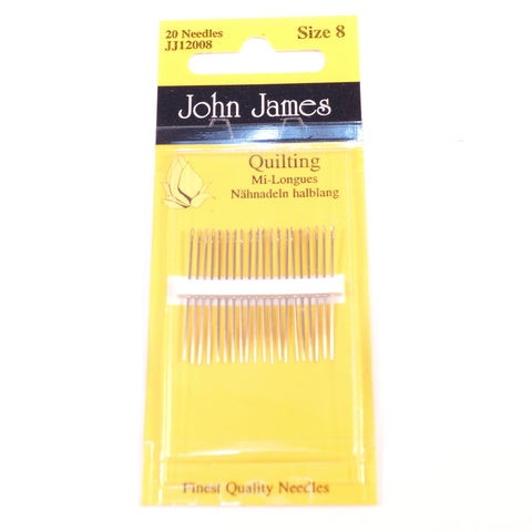 John James Quilting Needles Size 8 - Hands Craft Store