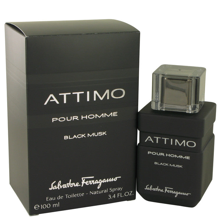 Salvatore Ferragamo Attimo Black Musk For Men Eau De Toilette Spray 3.4 oz