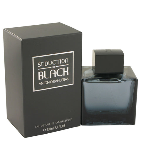Antonio Banderas Seduction In Black For Men Eau De Toilette Spray 3.4 oz