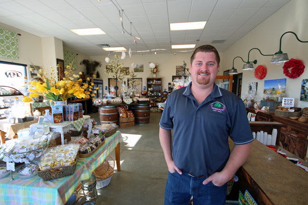 Derek Sohnrey at the Sohnrey Family Foods Gift Shop