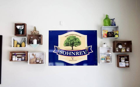 Sohnrey Family Foods Gift Shop Wall Display