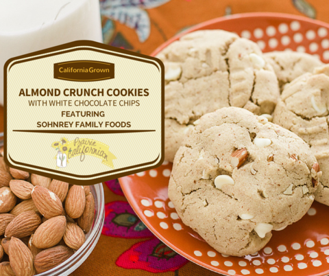 Almond Crunch Cookies With White Chocolate Chips