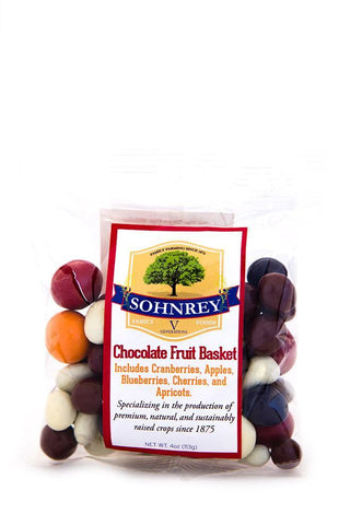 4oz Chocolate Fruit Basket Candy