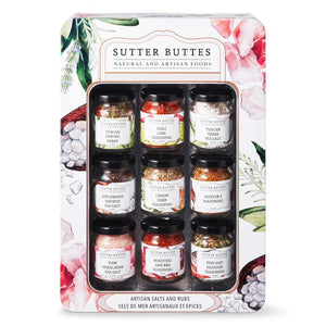 Sutter Buttes Artisan Sea Salt and Spices Sampler