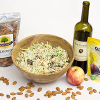 Apple Almond Prune Slaw with Honey Yogurt Dressing