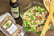 Rice Salad with Prunes, Almonds and Bacon