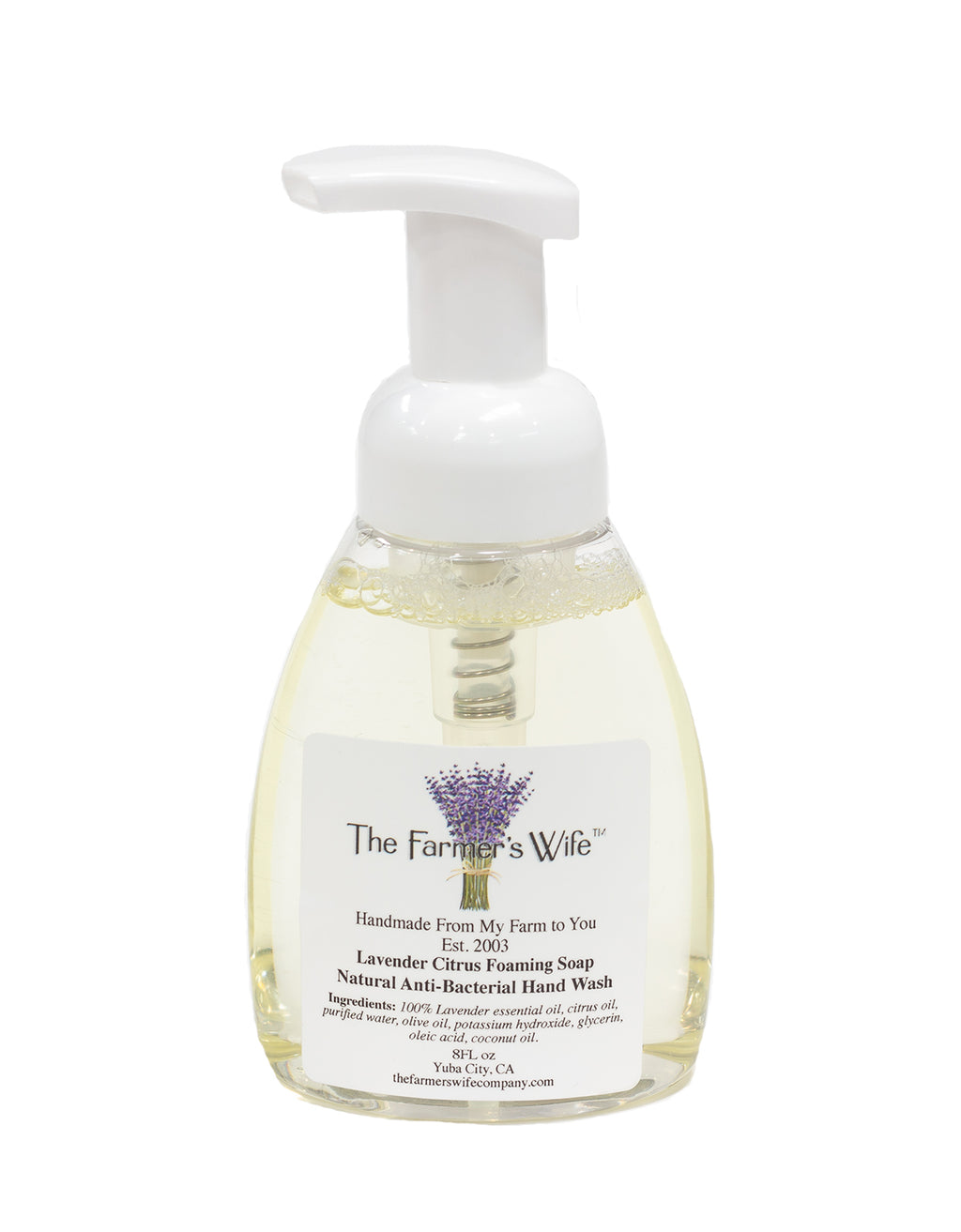 Farmers Wife Lavender Citrus Foaming Hand Soap