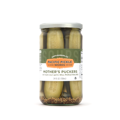 Mother's Puckers Sour Garlic Dill Pickles by Pacific Pickle Works