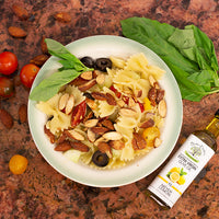 Pasta Salad with Almonds and Lemon Olive Oil