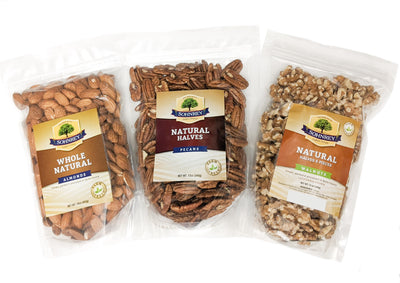 Raw Almonds, Walnuts and Pecans Bundle