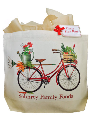 Mary Lake-Thompson Red Bicycle Canvas Tote